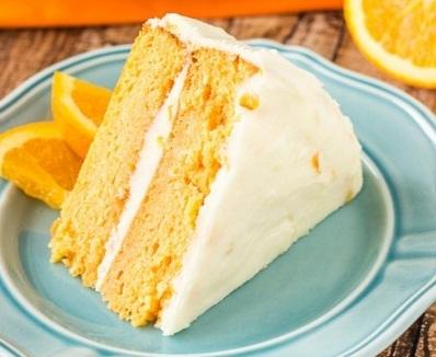 Mê mẩn bánh gato cam tươi ngọt ngào thơm mát