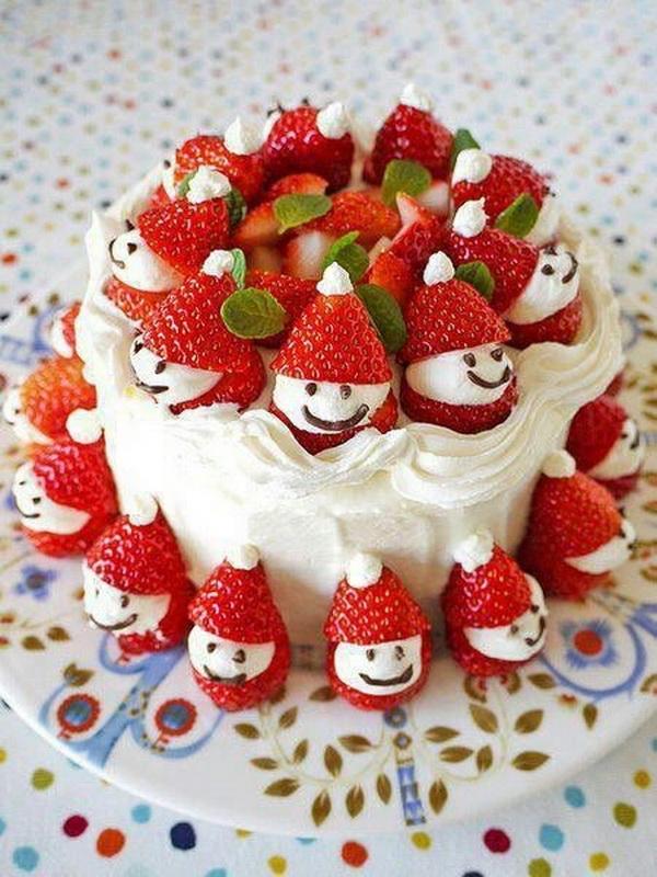 10 mẫu trang trí bánh kem Giáng sinh đẹp