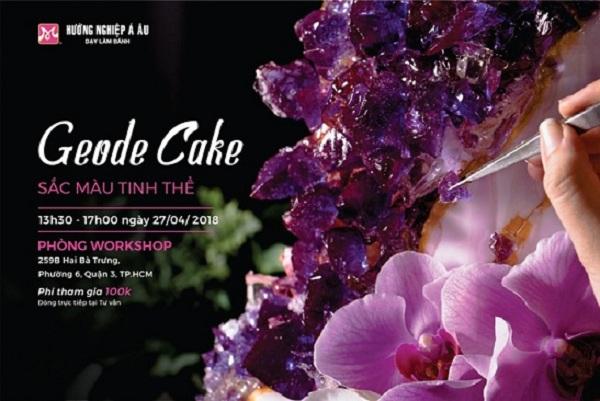 """""""Geode cake – Sắc màu tinh thể"""" – Đỉnh cao với fondant và nghệ thuật trang trí"""