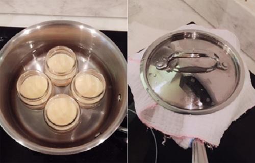 Đậy nắp và hấp bánh trong 15 phút