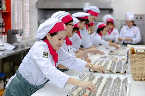 phòng học thực hành làm bánh của HNAAu