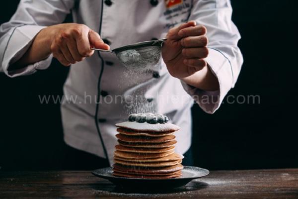 xếp pancake thành tầng