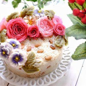 xôi hoa đậu xinh đẹp