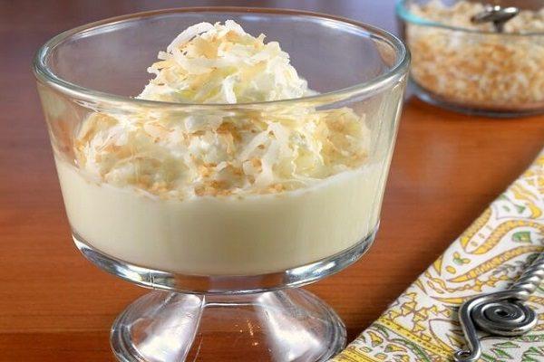 pudding dừa béo ngậy
