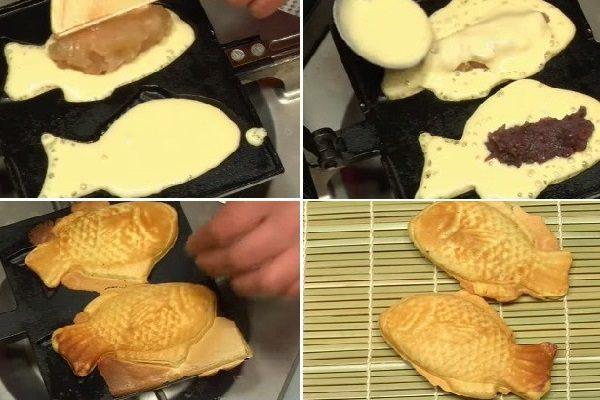 công đoạn nướng bánh