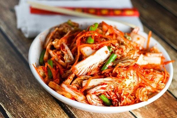 kim chi chua ngọt hấp dẫn