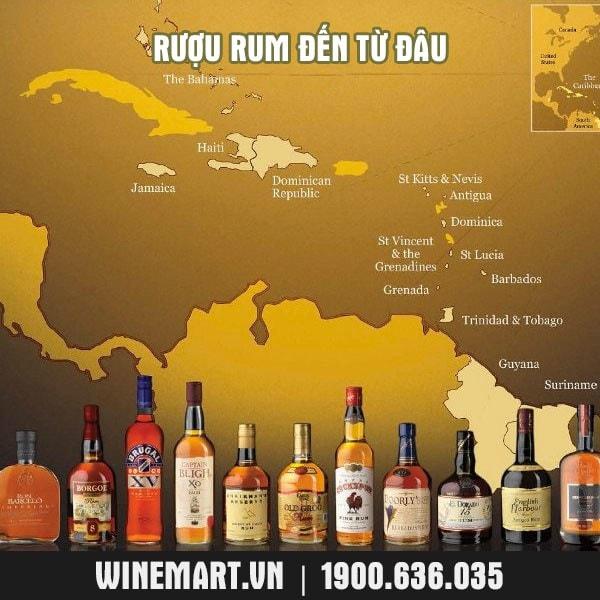 nguồn gốc rượu Rum